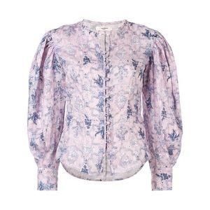 Isabel Marant Etoile Women's Tilo Floral Linen Top